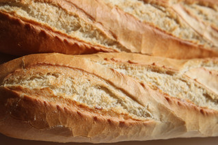 Beautiful crusty French baguettes fresh out of the oven!