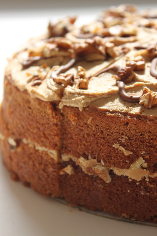 Wake up with our tantalising coffee & walnut cake...