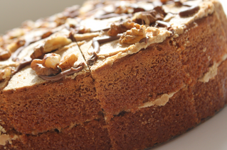 How about a nice piece of Coffee and Walnut Cake? Nom!