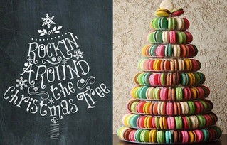 Enjoy Rocking around your Christmas tree with our new rainbow macarons! The perfect colourful presen