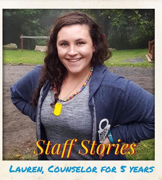Staff Stories: Lauren   Home   Camp Highlight