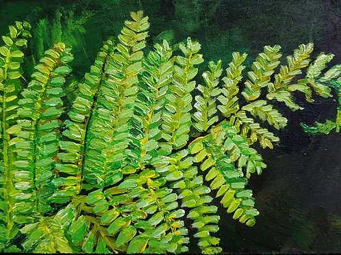 A6 Oil Painting- Fern (SOLD)