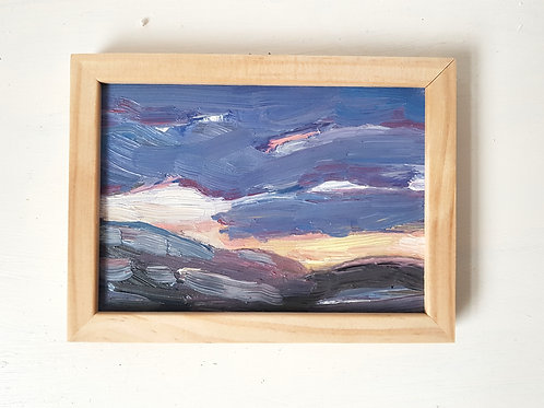 A6 Framed Oil painting- Snowdonia