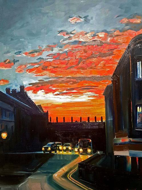 A2 Urban Landscape Painting COMMISSION