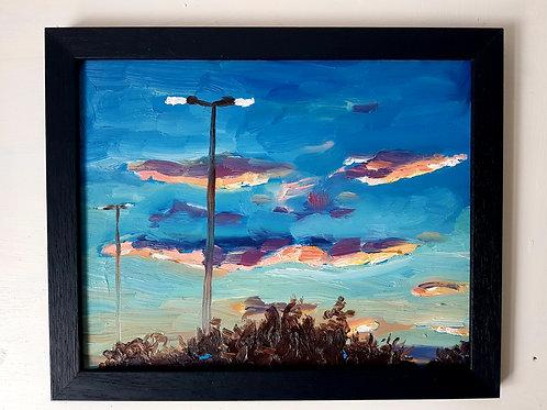 """10x8"""" Framed Oil Painting- Dusk"""
