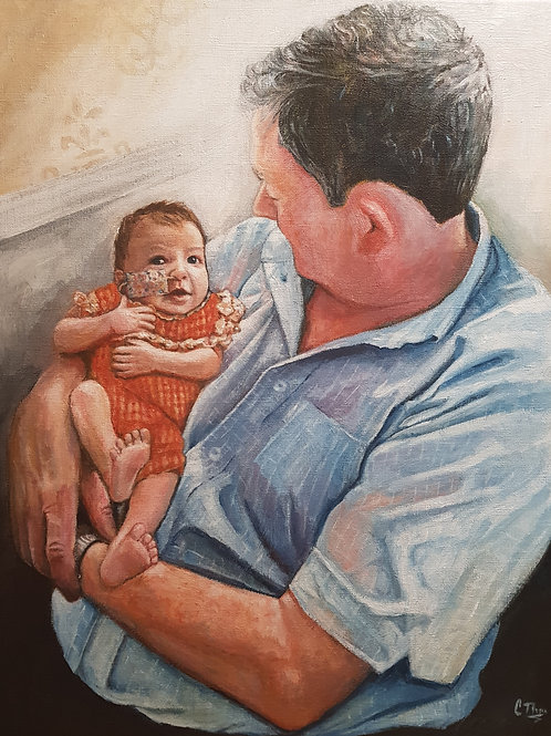 Bespoke Portrait Commission - Acrylic on Canvas