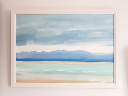 A3 Framed Oil Painting- Newborough Beach 3 (SOLD)