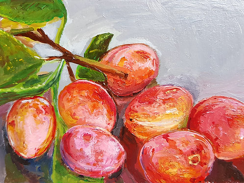 A6 Painting study- Plums (SOLD)