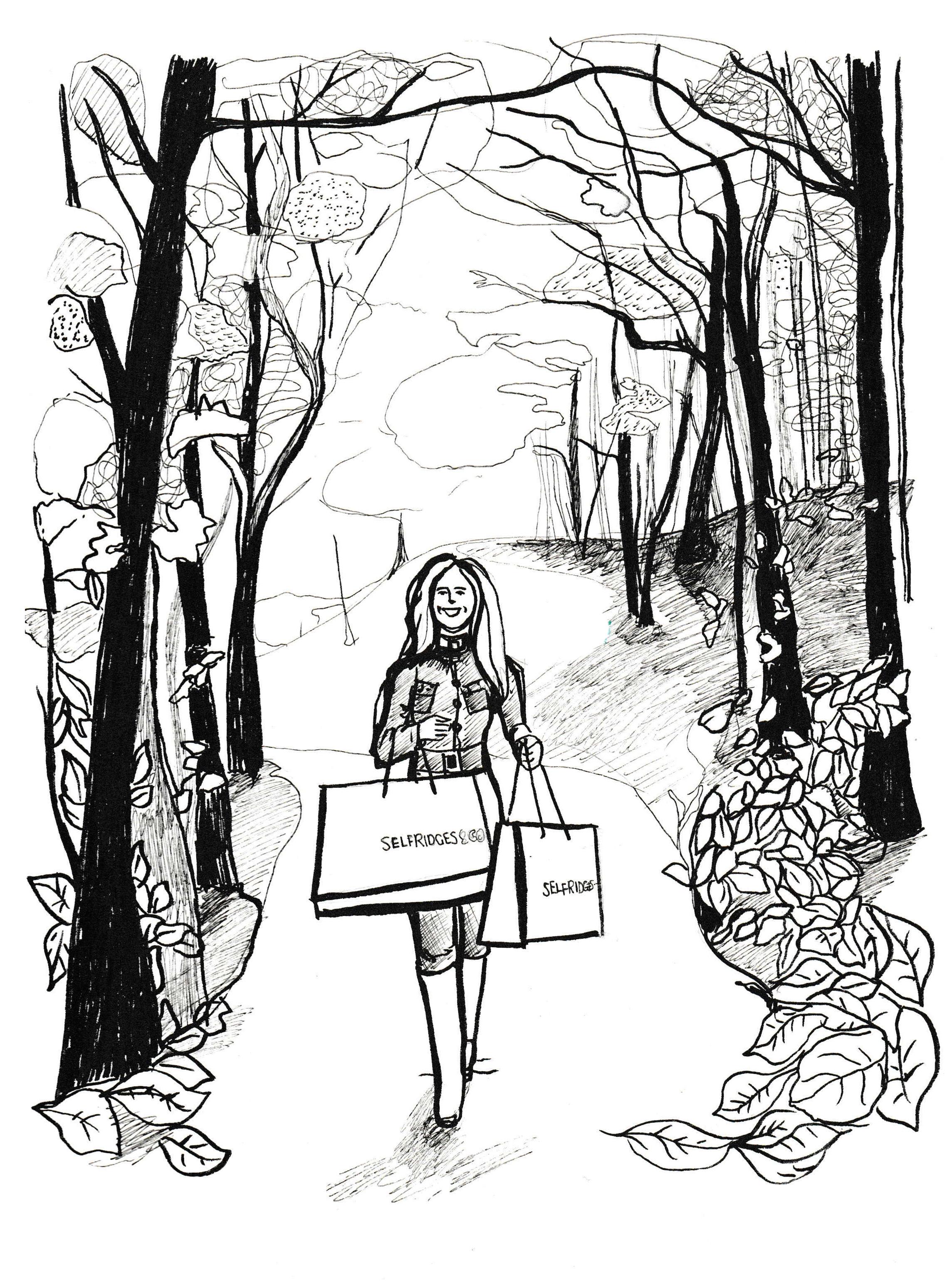 Illustration for Selfridges