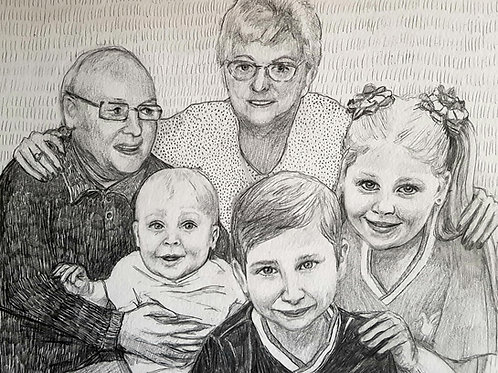 """10x8"""" Pencil Portrait COMMISSION"""