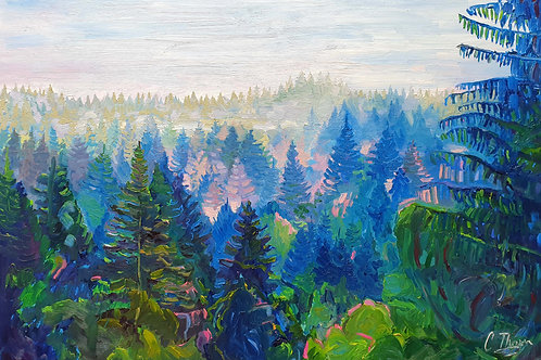A1 Oil on Canvas- Blue Forest (NFS)