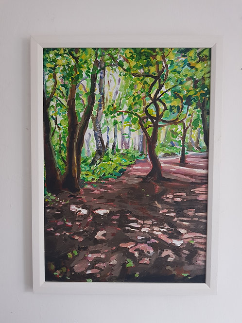 A3 FramedPainting- Into the Woods