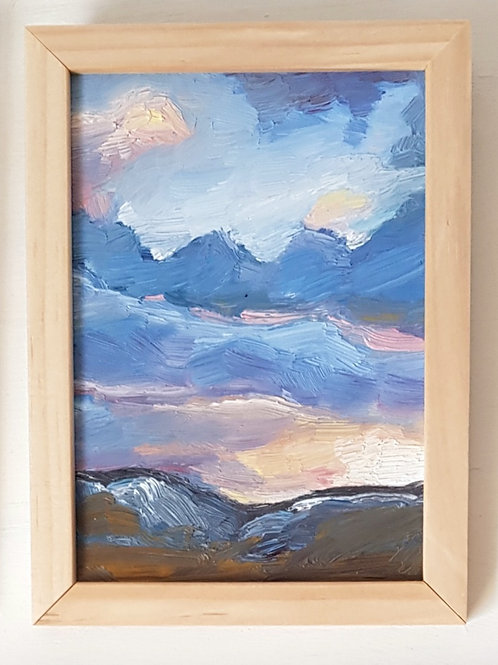 A6 Framed Oil Painting study- Snowdonia