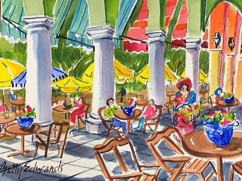 """Vera Cruz Mexico Flower Seller"" by Betty Bivins Edwards"