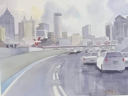 """""""Atlanta Skyline"""" by Scott Serafy"""