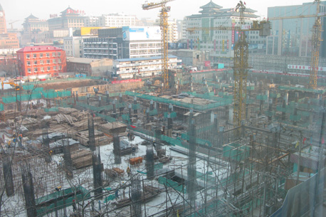 A massive structure goes up in Beiji