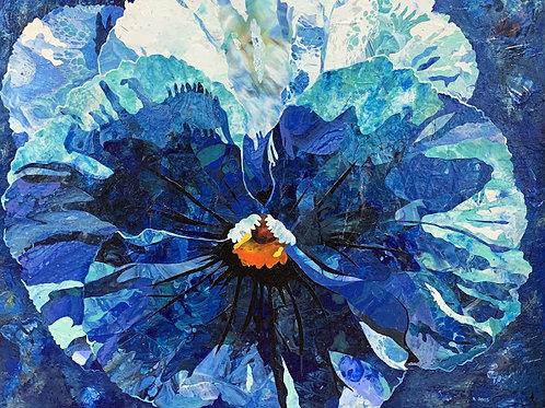 """""""Blue Pansy"""" by Kris Davis"""