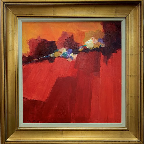 """SOLD - """"Abstract Red"""" by Daly Smith"""