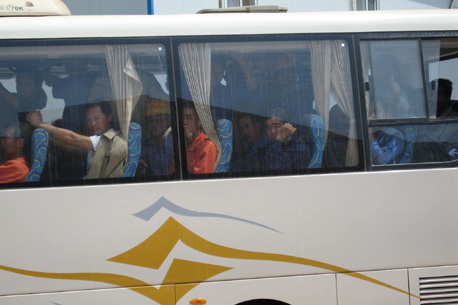 A crowded bus