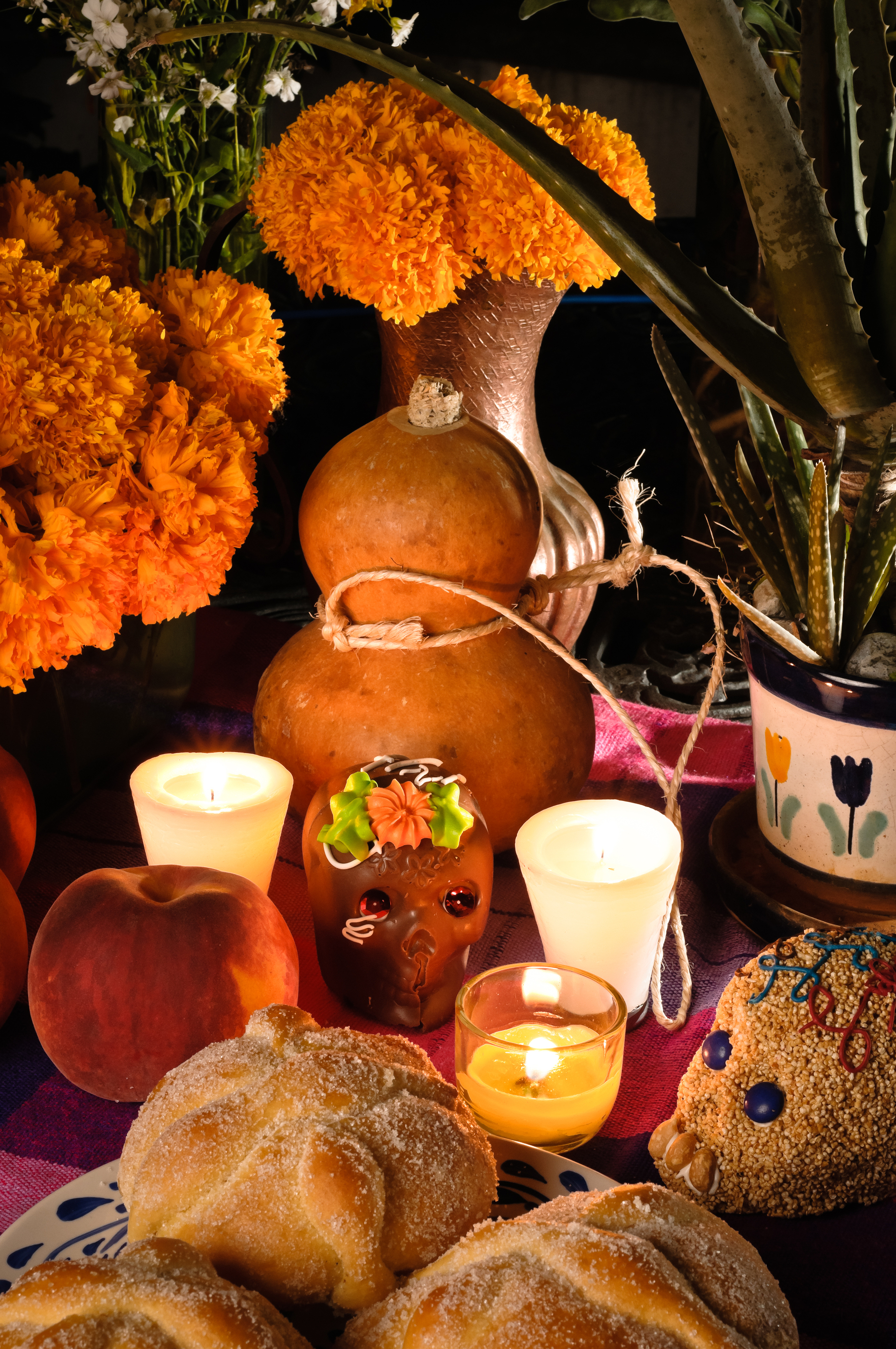 Mexican Day Of The Dead Offering Altar (dia De Muertos).jpg