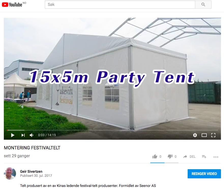 Montering av festivaltelt
