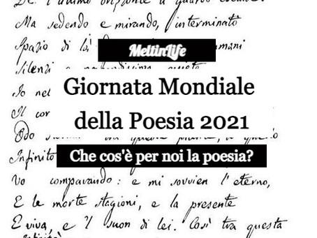Che cos'è la poesia per noi? Giornata Mondiale della Poesia 2021