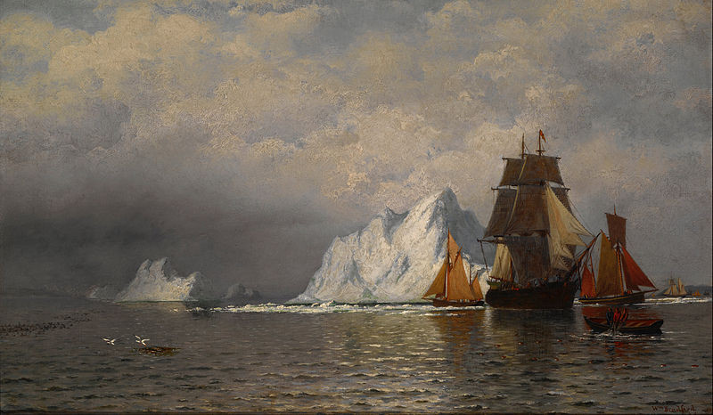 Bradford, William - Whaler and Fishing Vessels near the Coast of Labrador