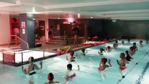 Yoga inside a swimming pool???