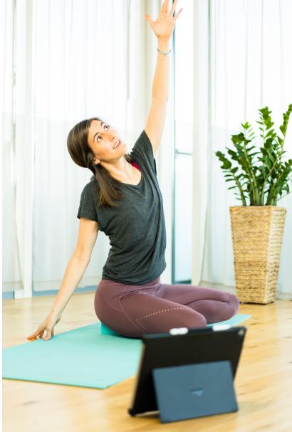 virtual chair yoga