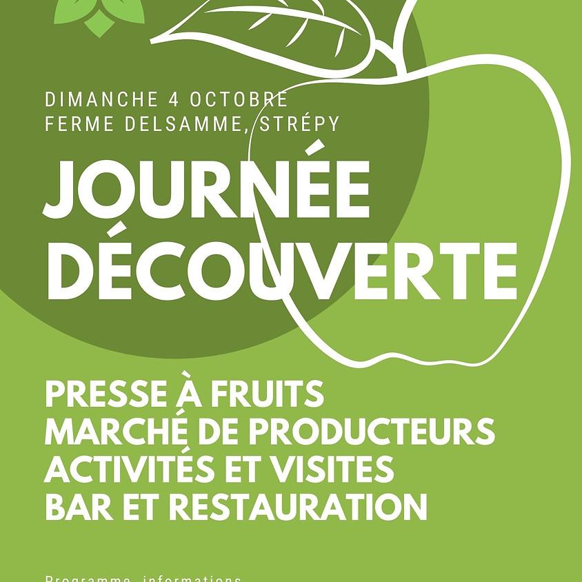 Journée découverte, activités et presse à fruits