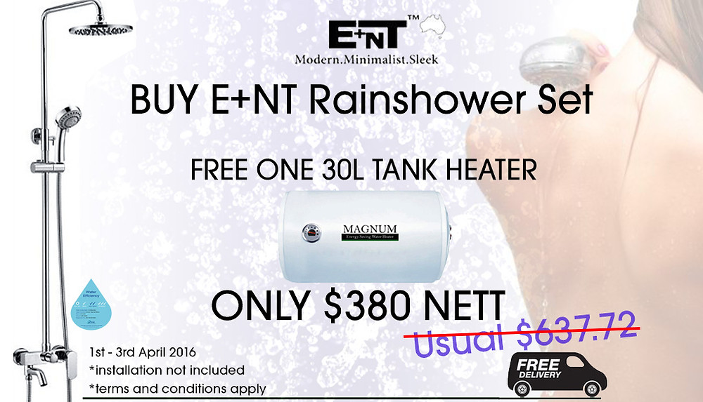 Water heater & Rainshower promotion