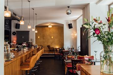 Zebrano Café und Bar Innenansicht