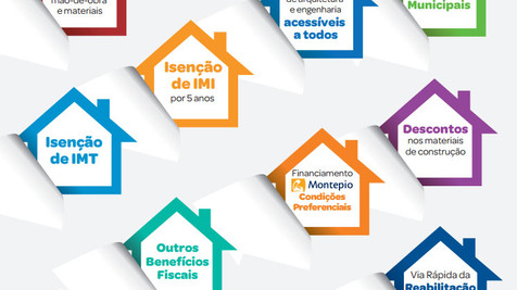 Lisboa, ao reabilitar o seu imóvel: -17% IVA, Isenção de IMI, -500€ IRS, Benefícios fiscais, Isenção