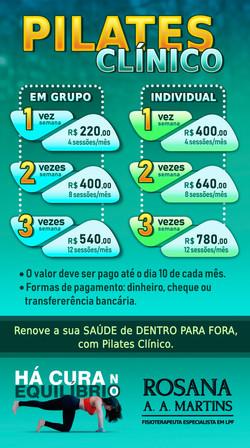 Tabela de Preços para Instagran/Whatsapp
