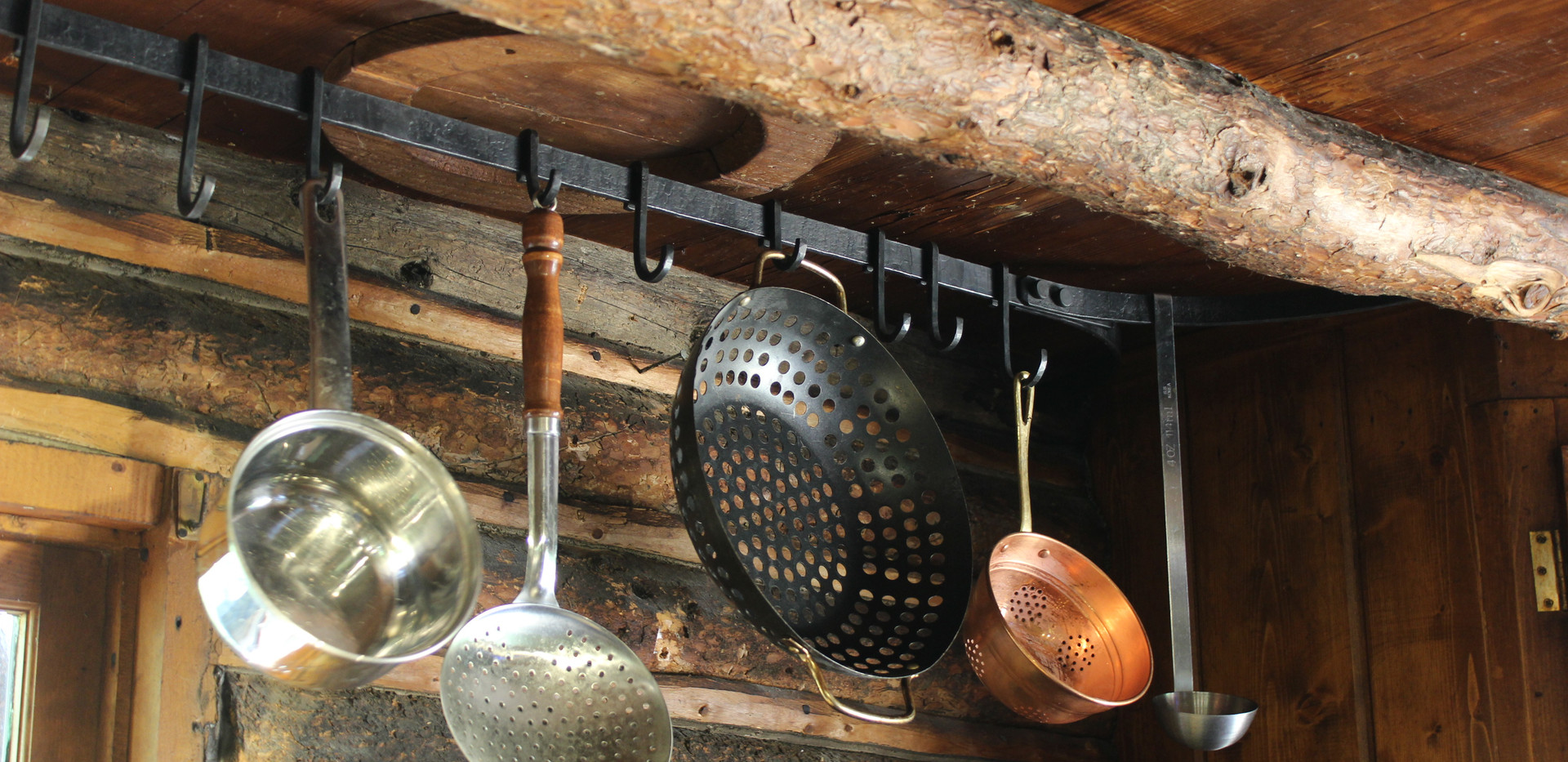 Riveted Hanging Pot Rack