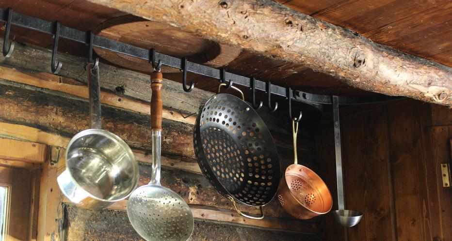 Riveted Hanging Pot Rack