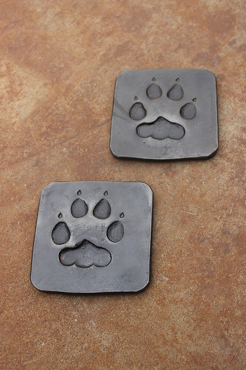A Pair of Wolf Print Coasters
