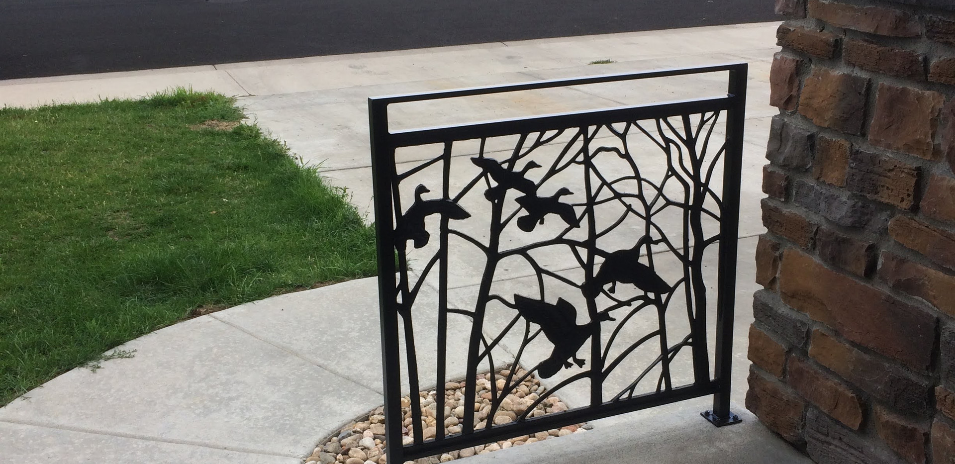 Forged Tree Railing