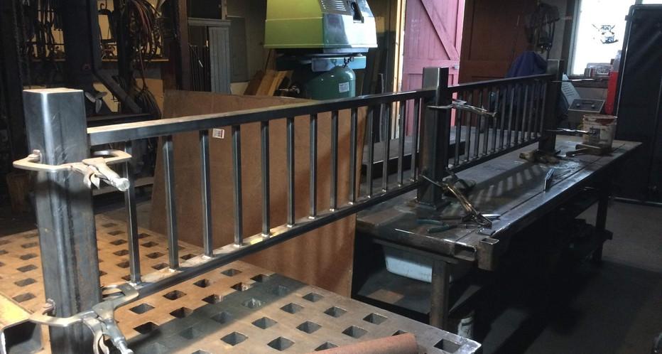 Fabricated Railing in progress