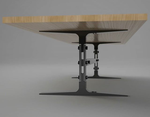 Industrial Conference Table Rendering