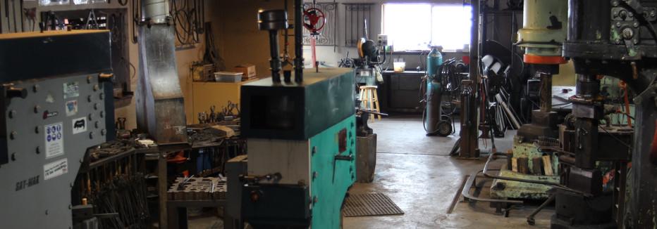 Workshop forging area