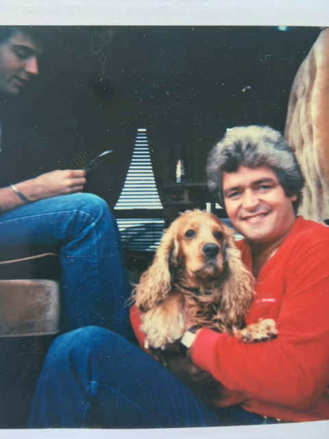 On the road in the 70's  with Tucker