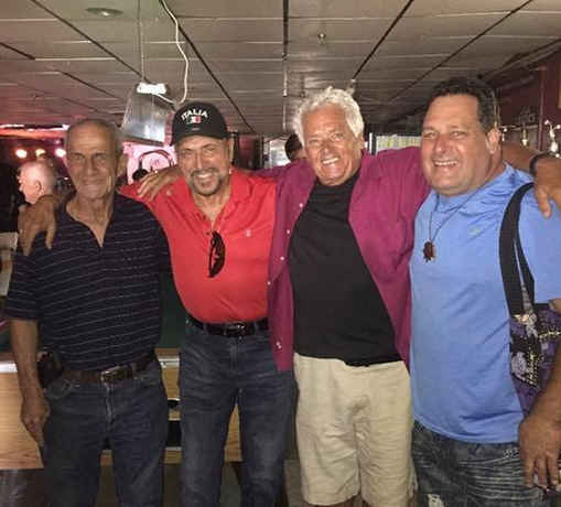 Billy Nolan, My brother from Boston Ron Pollini, me, and Ron's son Little Ron