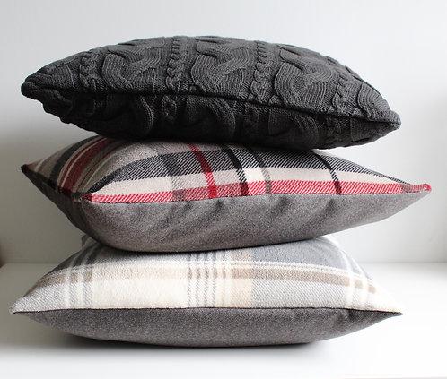 Plaid Plush Cushion