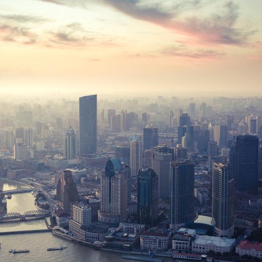 夕暮れ上海
