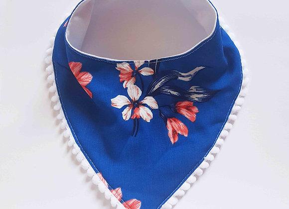 Babador baby flores azul