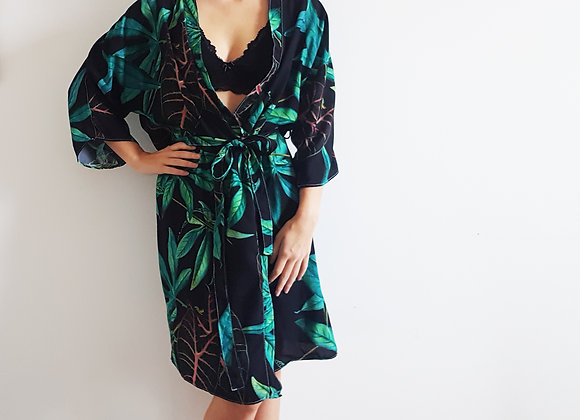 Kimono mamãe folhagem verde