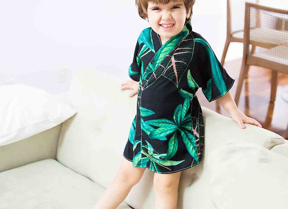 Kimoninho baby folhagem verde