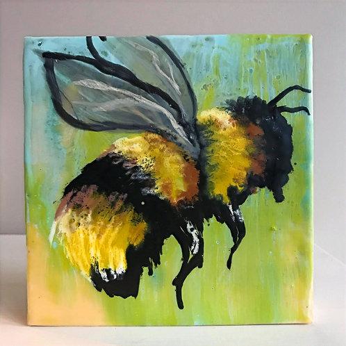 Encaustic Bee Painting