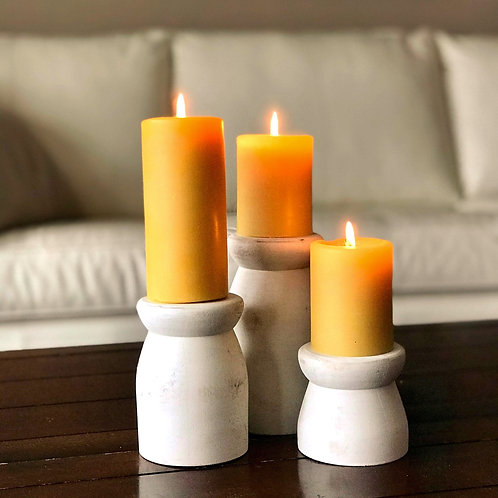 Solid Wooden Candle Holders
